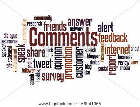 Comments, Word Cloud Concept