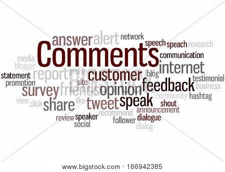 Comments, Word Cloud Concept 7