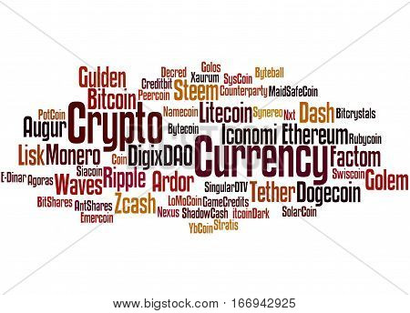 Crypto-currency, Word Cloud Concept