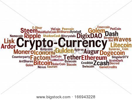 Crypto-currency, Word Cloud Concept 5