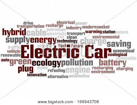 Electric Car, Word Cloud Concept 8