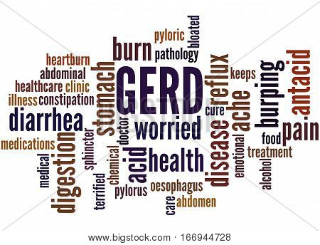 Gerd - Gastroesophageal Reflux Disease, Word Cloud Concept 3