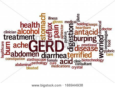 Gerd - Gastroesophageal Reflux Disease, Word Cloud Concept 7