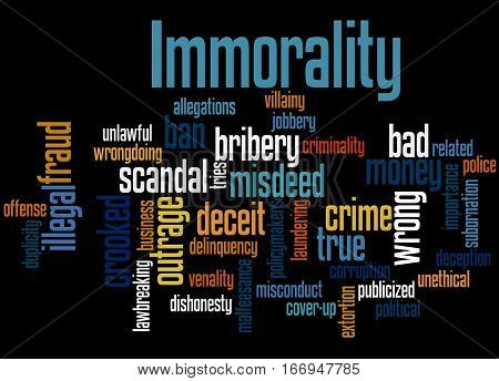 Immorality, Word Cloud Concept 4