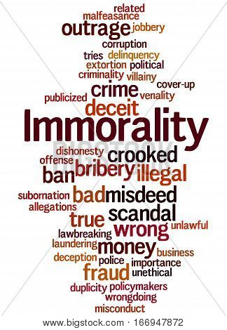 Immorality, Word Cloud Concept 6