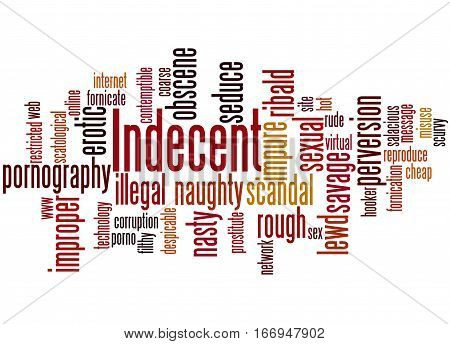 Indecent, Word Cloud Concept
