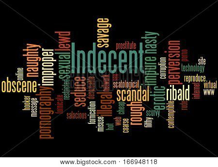 Indecent, Word Cloud Concept 4