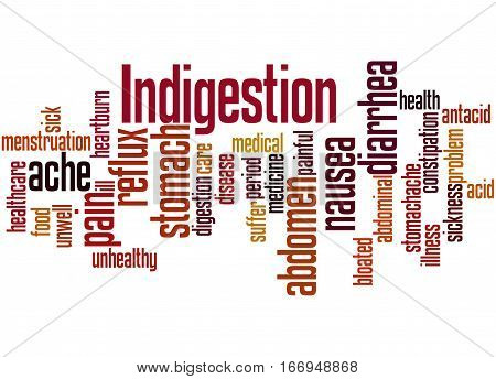 Indigestion, Word Cloud Concept