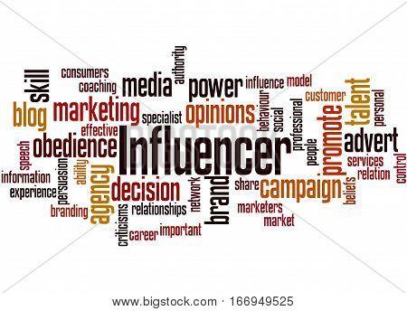 Influencer, Word Cloud Concept 4
