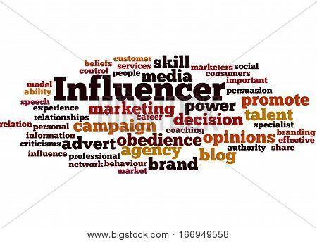 Influencer, Word Cloud Concept 5