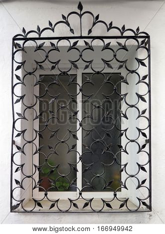 Wrought Iron Grill or bars on Window in Malaga Andalusia