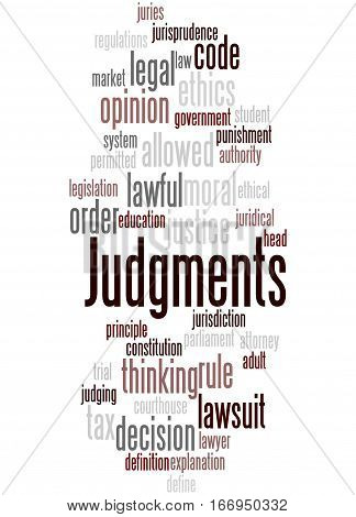 Judgments, Word Cloud Concept 7