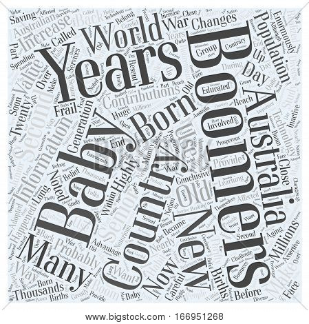 information on baby boomers Word Cloud Concept