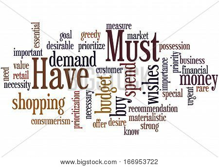 Must Have, Word Cloud Concept 3