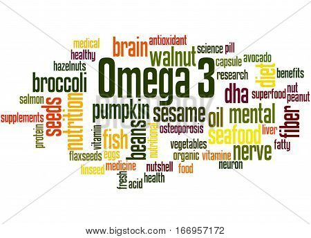 Omega 3, Word Cloud Concept