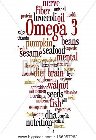 Omega 3, Word Cloud Concept 3