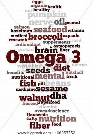 Omega 3, Word Cloud Concept 5