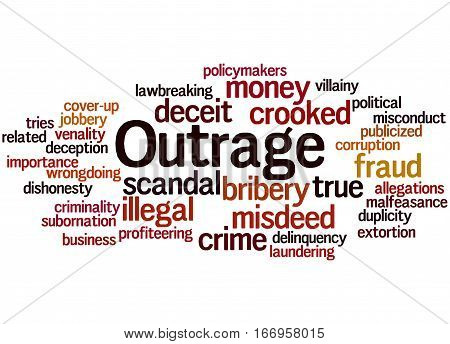 Outrage, Word Cloud Concept 4