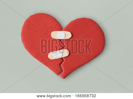 HeartBroken Bandage Cure Heal Paper Craft