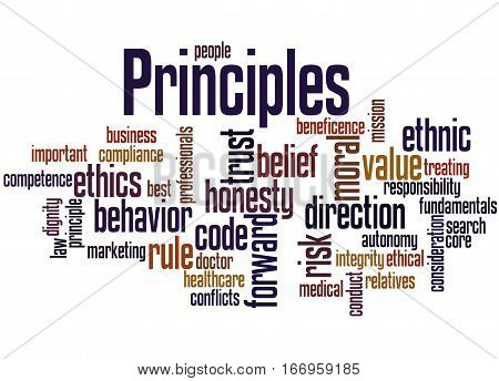 Principles, Word Cloud Concept 4