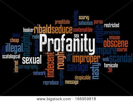 Profanity, Word Cloud Concept 4