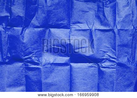 blue tissue paper texture for background, copy space