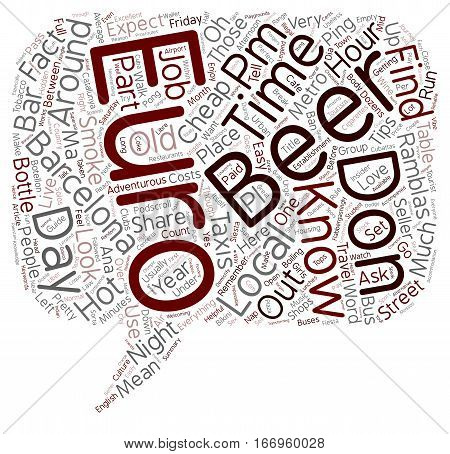 Insider tips and facts about Barcelona For the adventurous tourist text background wordcloud concept