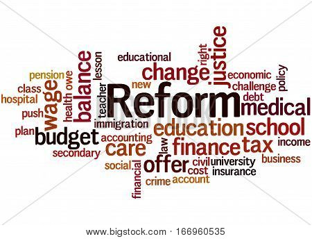 Reform, Word Cloud Concept