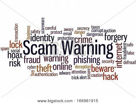 Scam Warning, Word Cloud Concept 8