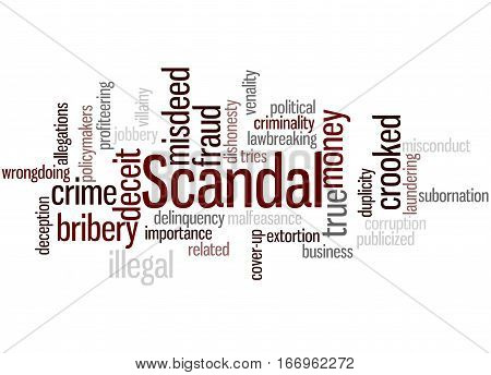 Scandal, Word Cloud Concept 5