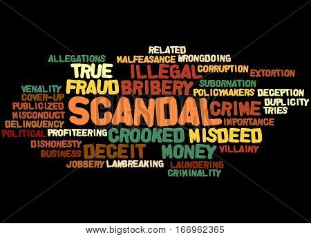 Scandal, Word Cloud Concept 6