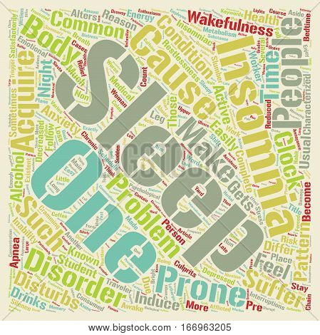 Insomnia why suffer in silence text background wordcloud concept