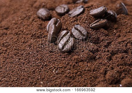 Coffee beans. ground coffee. Coffee beans. ground coffee
