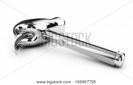 Hammer 3d illustration. Build concept. Isolated on white