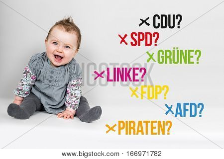 Baby With German Parties For German Federal Election 2017