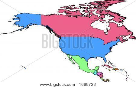 North America Vector Map.Eps