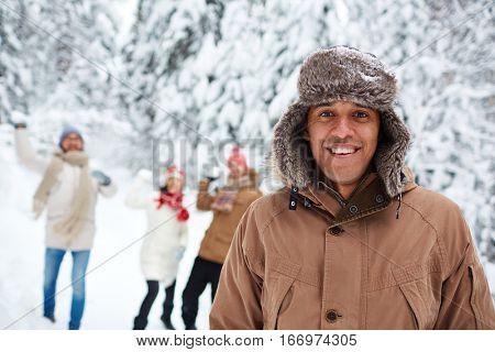 Guy in winterwear