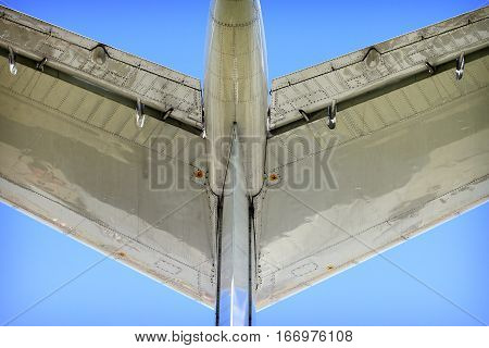 View of the Russian civil aircraft. Exterior aircraft