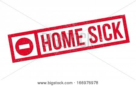 Home Sick rubber stamp. Grunge design with dust scratches. Effects can be easily removed for a clean, crisp look. Color is easily changed.