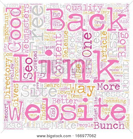 Instant Back Links For Free text background wordcloud concept