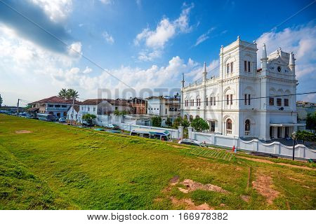 View to Meera Mosque in fort Galle, Sri Lanka
