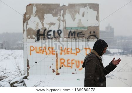 Refugees In Serbia During The Winter