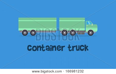 Container truck of vector art collection stock