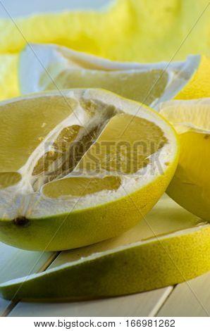 fresh raw ripe fruit of citrus Pamela