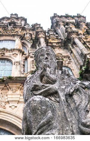 Sculpture seen in the Santiago de Compostela's Cathedral