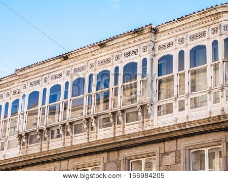 Typical Galician Balconies