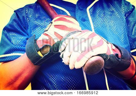 Batter Wearing Gloves