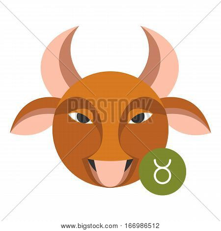 Taurus astrology sign isolated on white. Horoscope symbol represented as group of stars making shape of animal or person. Zodiac constellations astrological mythology icon vector design illustration