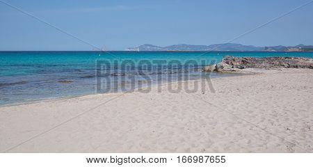 Sand Of Ses Illetes Beach