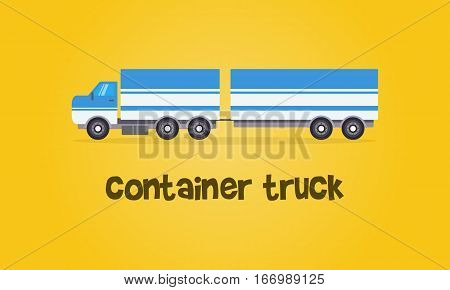 Style container truck of vector collection stock
